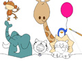 Play Cute Zoo Coloring