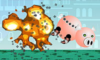 Mechanipig Game : This little back went to market, this little piggy…flew to paradise?