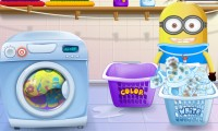 Baby-Minion doet de was