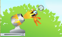 Squirrel Cannon Game : Forget the human cannonball. The squirrel cannon is superior in every way.